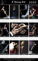 2020 Dark and Moody R Young Art Calendar