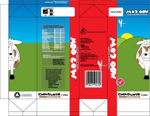 Moo cow milk carton design