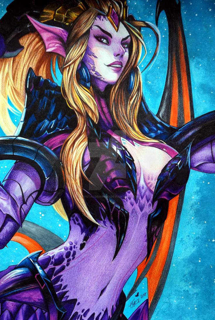 Zyra Dragon Sorceress by IKrystalDrawing