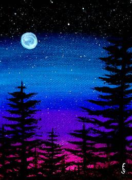 Watercolors night