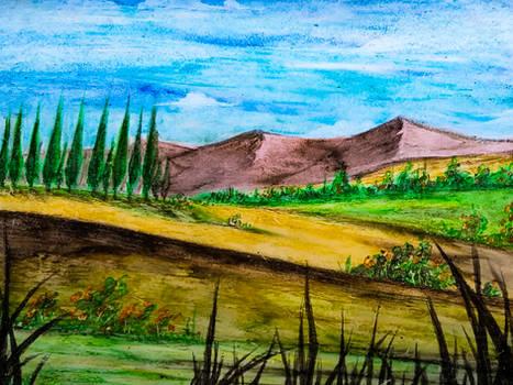 Landscape Oil Pastels n1