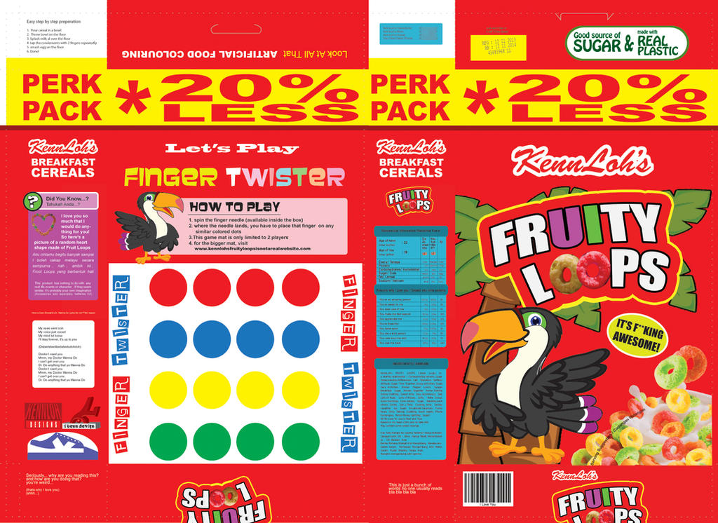 Fruity Loops Cereal Box Design (Custom) by kennmullen on ...