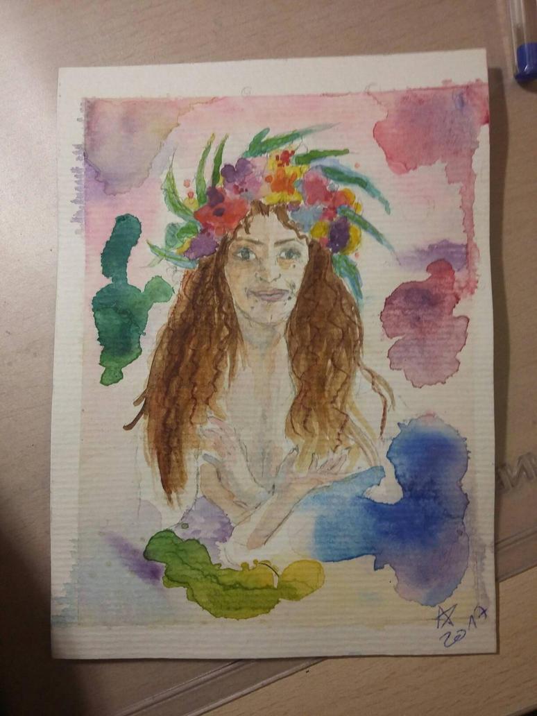 portrait of a friend  by Sheenay