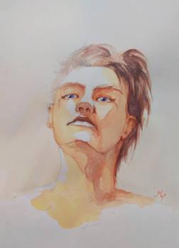 Watercolor self portrait