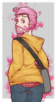 Bearded hipster chick xD by Gill-Goo