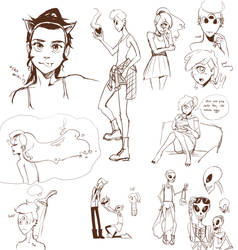 OC sketches by Gill-Goo