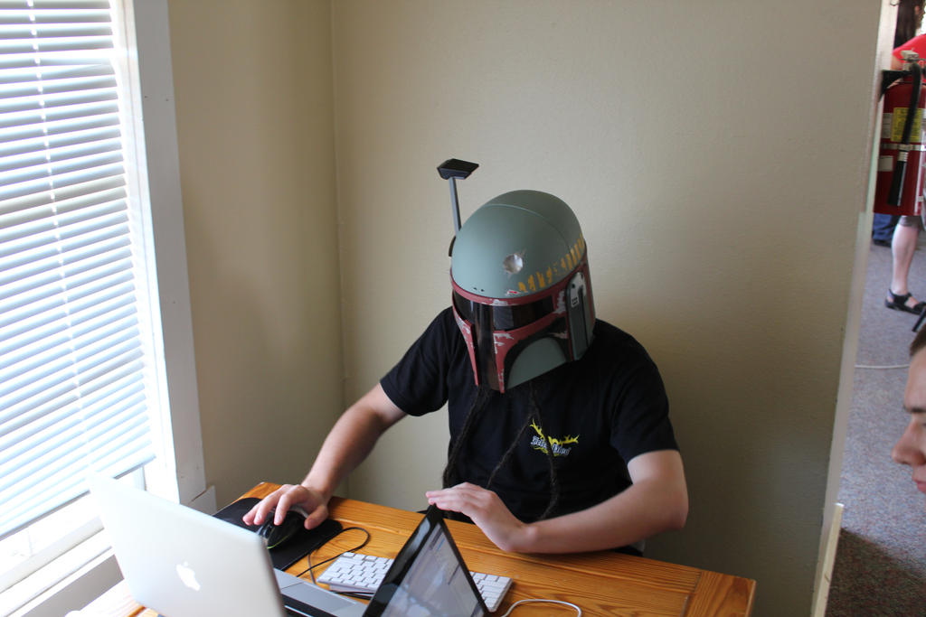 We code in helmets by KnightAR