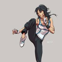 Chun-Li, the girl who kick by mrudowski