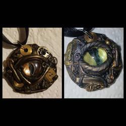 two steampunk dragoneyes  by creativitieskey