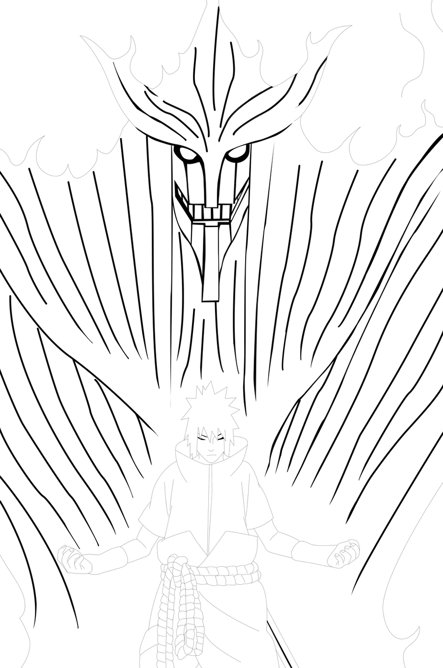 Line Art Vs Sketch : Naruto sasuke s susanoo lineart by bangalybashir on