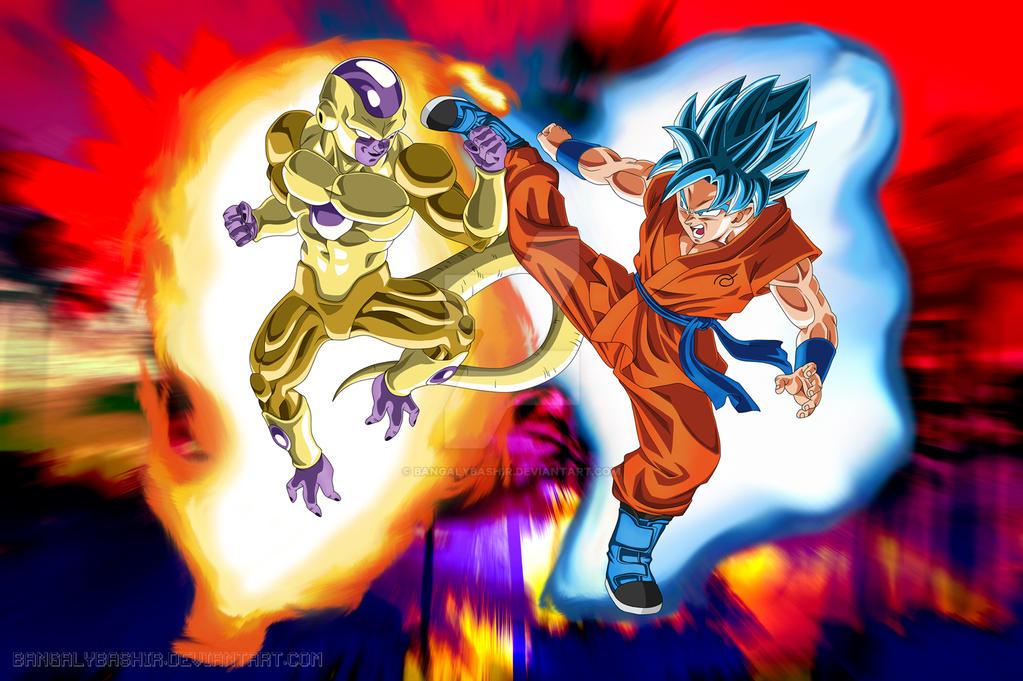 Goku Vs Golden Frieza Wallpaper By Bangalybashir