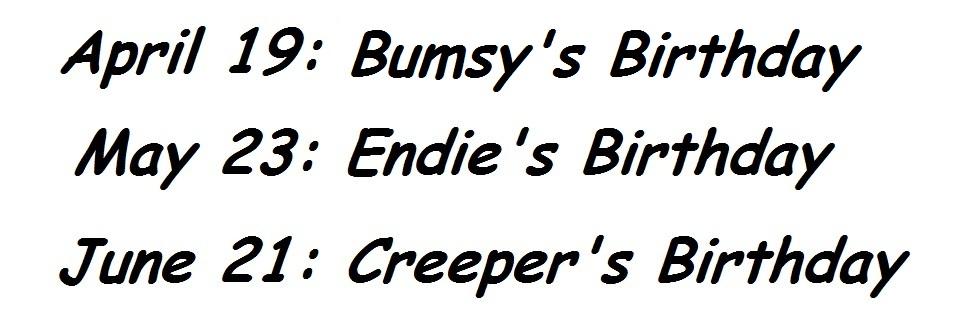Their birthdays by CreeperEndie