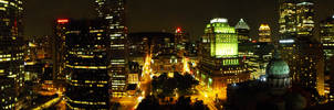 Montreal at night panorama by joshonator12