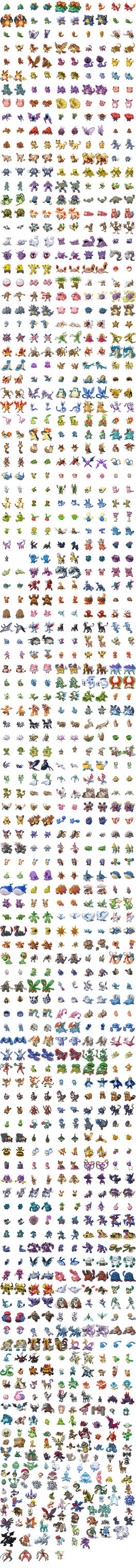 -Sprite Sheet- All 649 Pokemon by rocky7897
