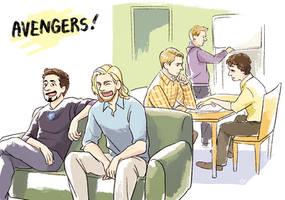 avengers by Hallpen