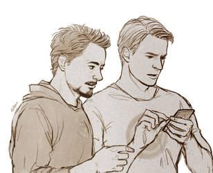 Avengers: Steve and Tony by Hallpen