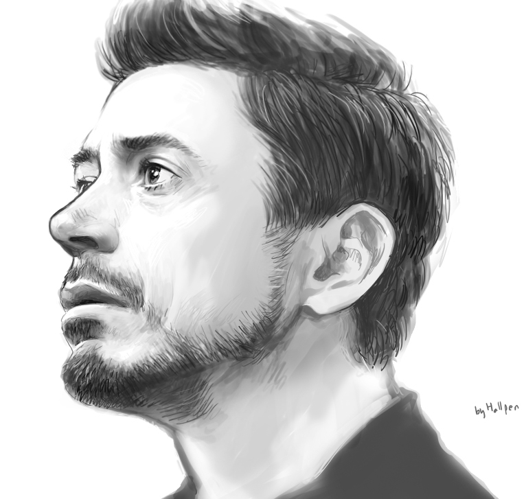 Iron man 3 by hallpen on deviantart for Modern drawing styles
