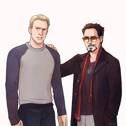 Steve and Tony by Hallpen