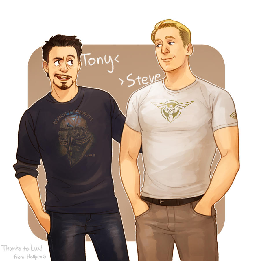 Tony and Steve by Hallpen