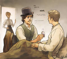 Visiting sick Watson by Hallpen