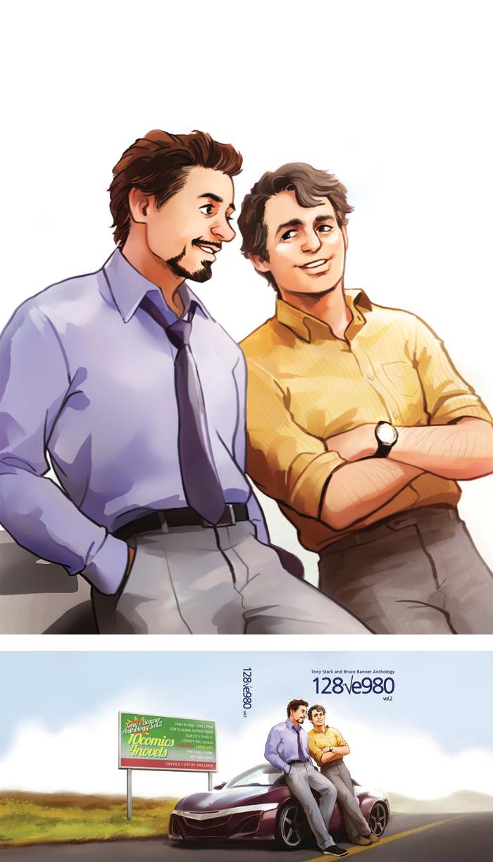 Mr.Stark Dr.Banner by Hallpen