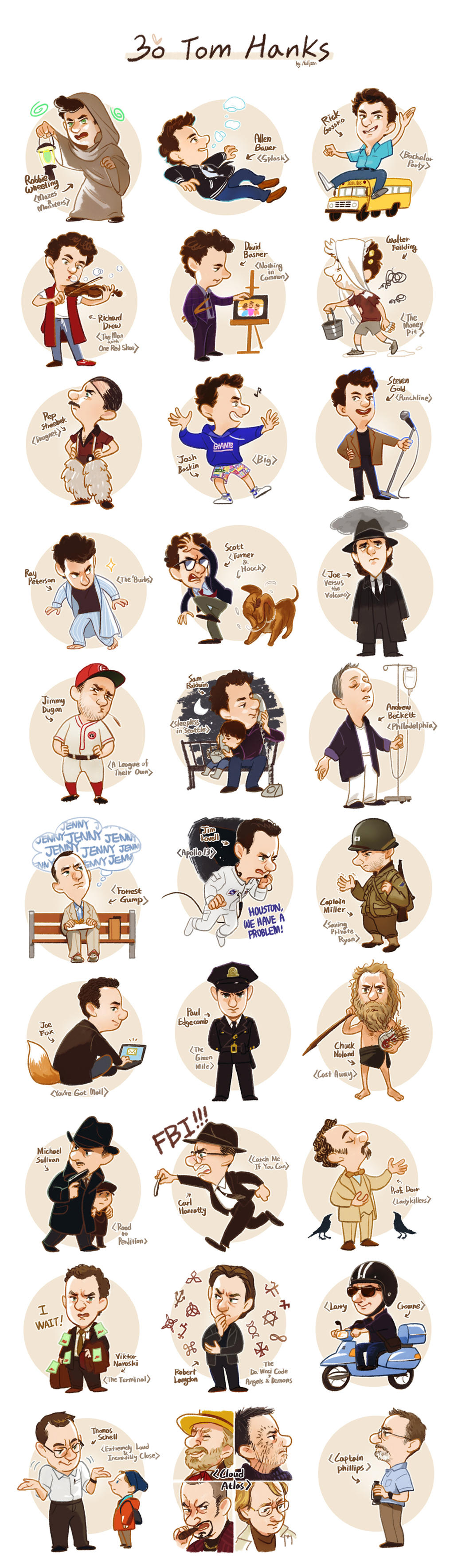 30 Tom Hanks by Hallpen