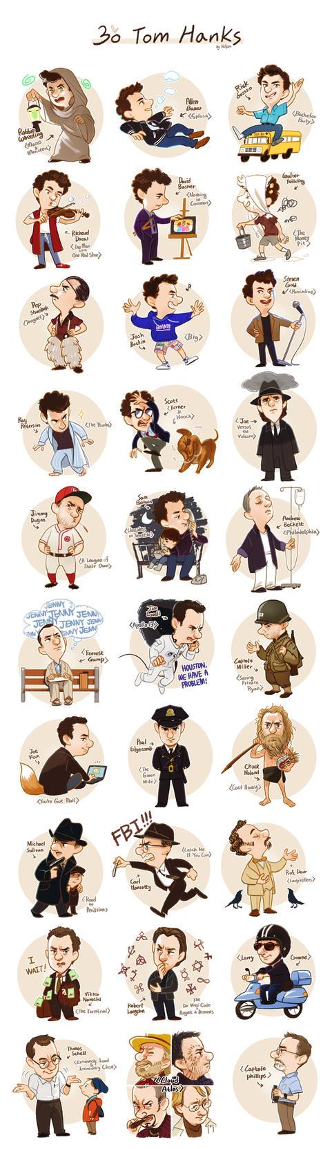30 Tom Hanks by Hallpen