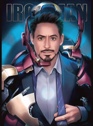 MCU Tony Stark by Hallpen