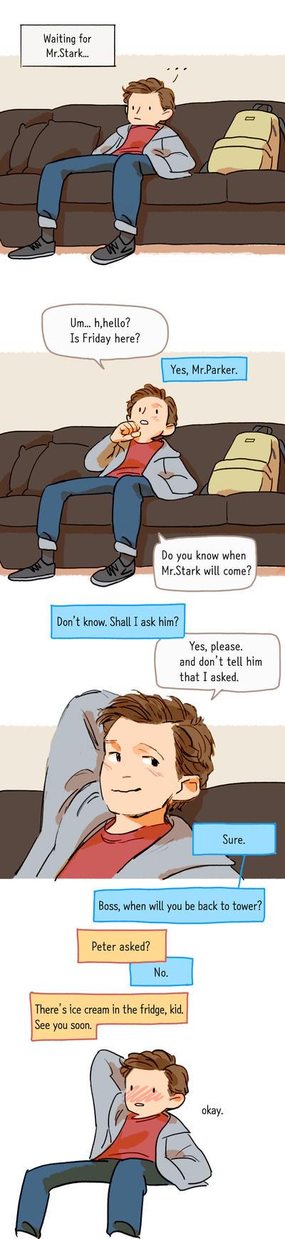 Waiting for Mr.Stark by Hallpen