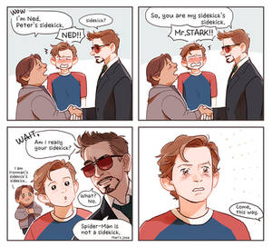 Peter,Ned and Mr.Stark