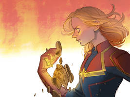 Captain MARVEL!!!! by Hallpen