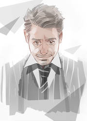 RDJ in grey
