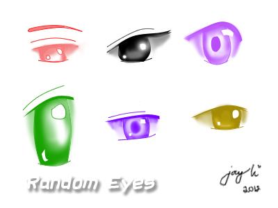 Anime Eye Random Drawing by ItsMeDoremi