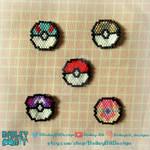 Pokeball Collection - beaded charms