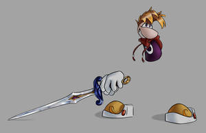 Rayman with a sword