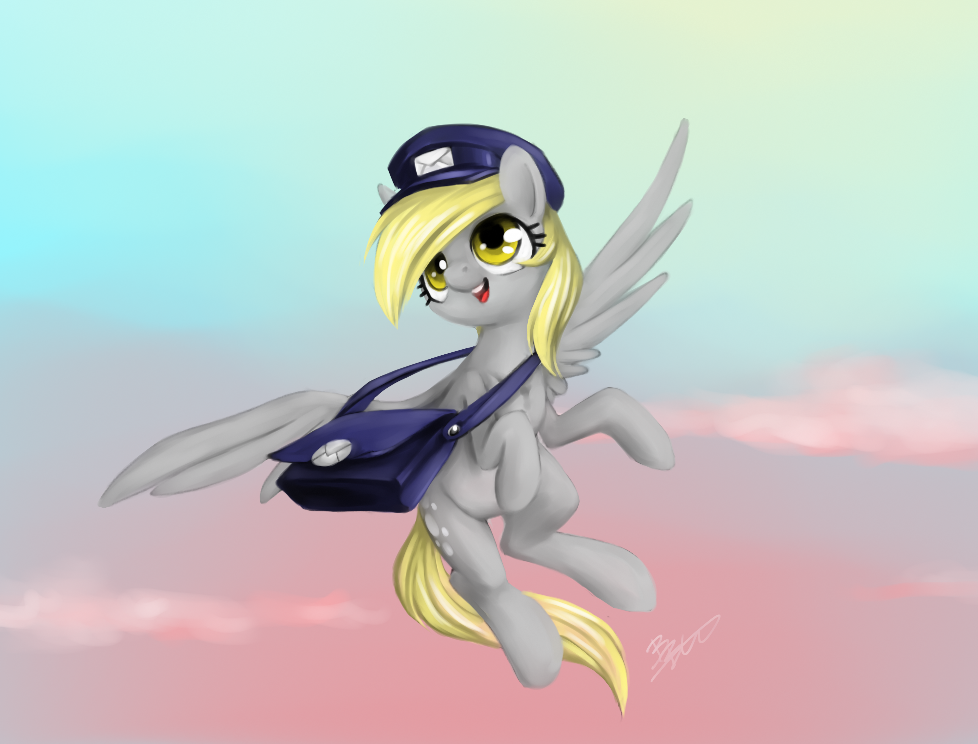 MLP - Speed painting - Derpy Delivery! by MadCookiefighter