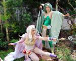 Rosa and Rydia FF4 Magic