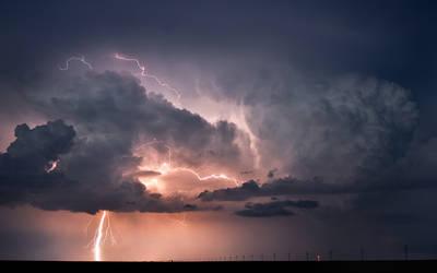 Lightning Storm over Oklahoma by MattGranzPhotography