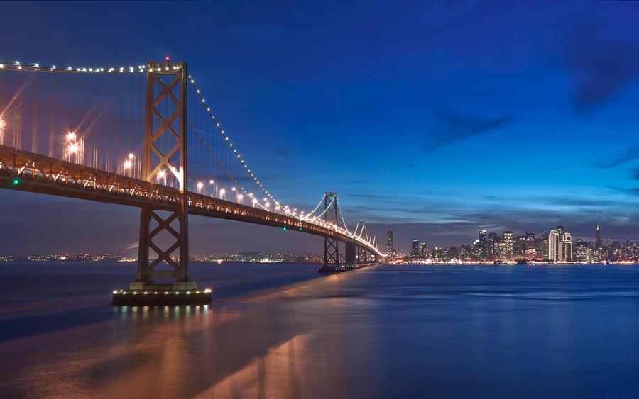 The SF Bay Bridge at Twilight by MattGranzPhotography