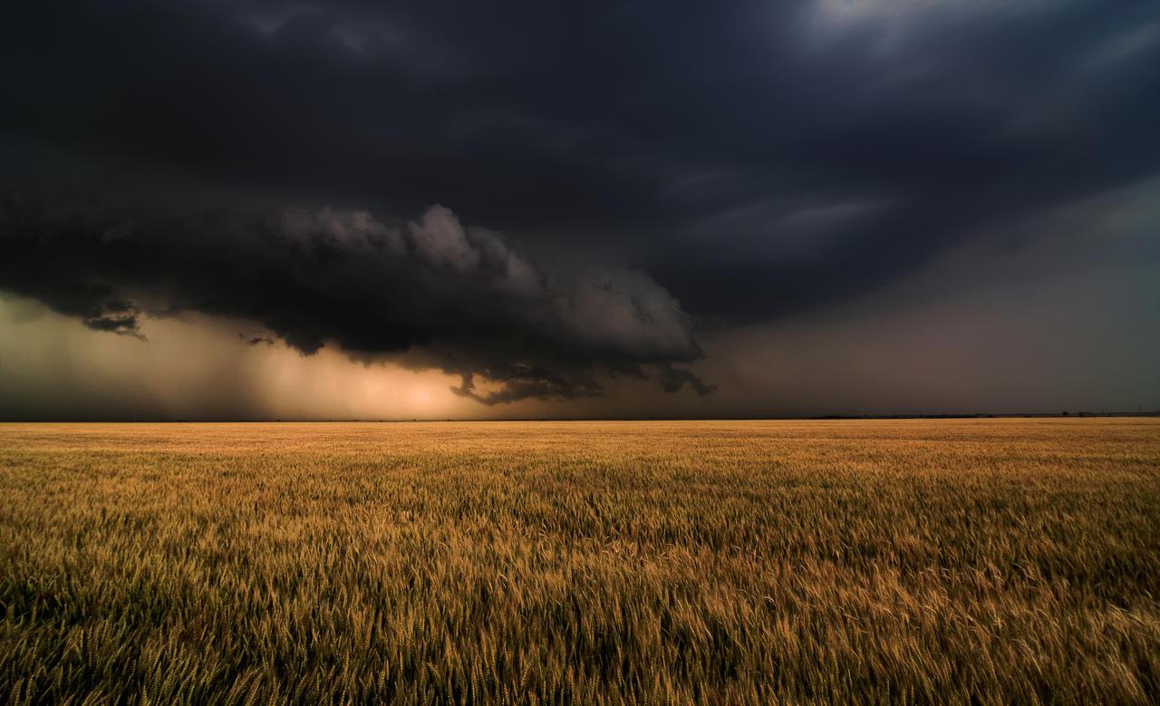 Shelf Cloud Near Nash. OK by MattGranzPhotography