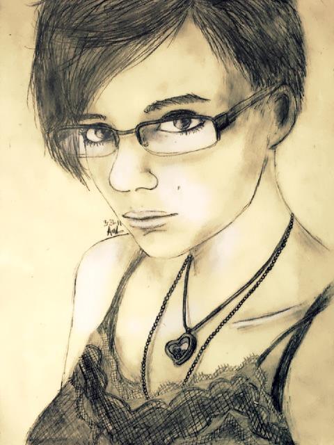 Self portrait. by Marikalou93