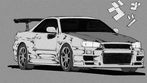 Ilya's Nissan Skyline R34 Initial-D Style