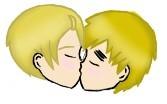 USUK kiss by ahinatafan