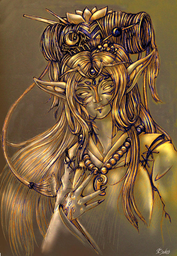 Goddess of the Golden Lotus by Taleea