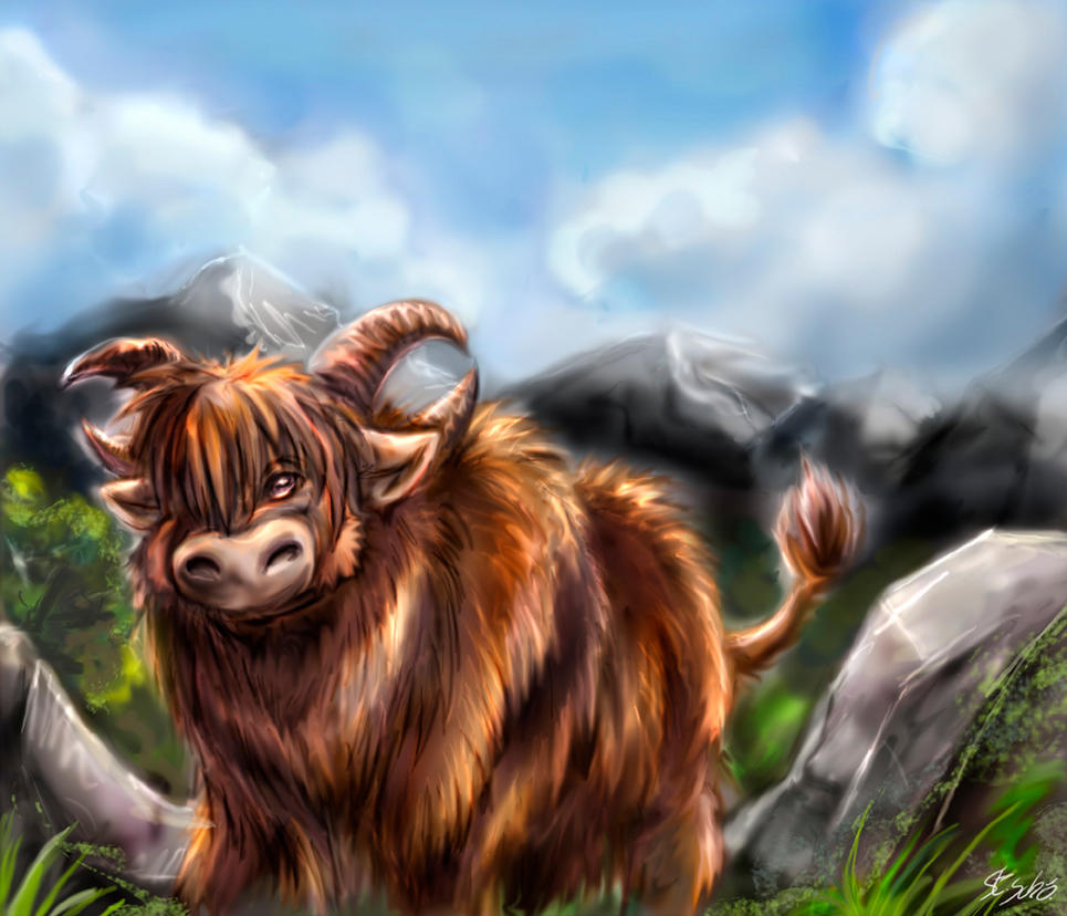 Speedpaint-Practise - a Cattle... yak... whatever by Taleea