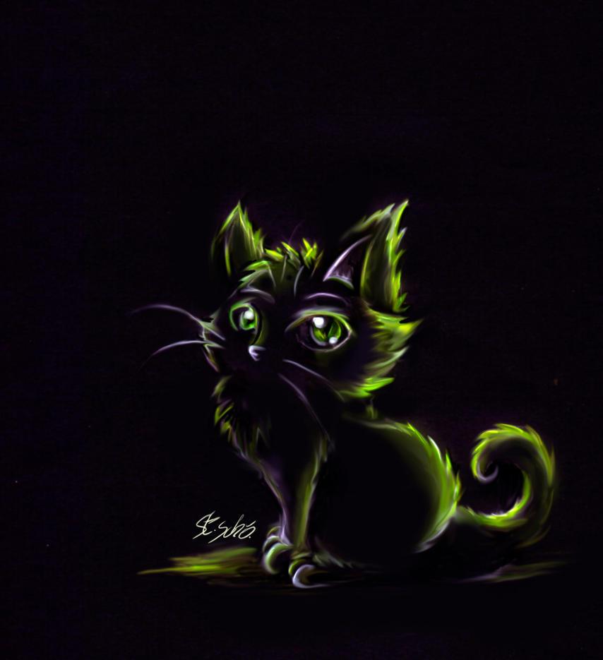 Speedpaint Glowing eyes by Taleea
