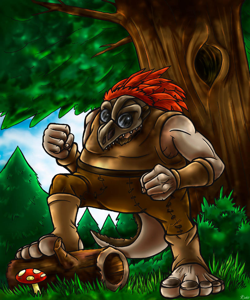 Collab - Gwyll, the troll with glasses by Taleea