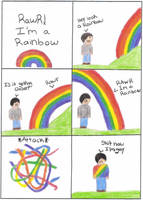 RAWR im a rainbow by emmersallday