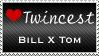 Twincest Stamp by emmersallday