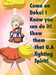 Toga Shows Her School Spirit